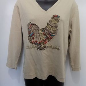 Funky Chicos Rooster V Neck